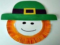 Leprechaun Paper Plate Craft