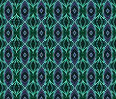 EYE DAMASK OGEE OGIVE JEWELS AQUA TURQUOISE fabric by paysmage on Spoonflower - custom fabric
