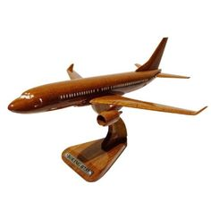 New Moc Pro BOEING B737 Wooden Handmade Airplane Model MADE IN JAPAN! 195 #MocPro