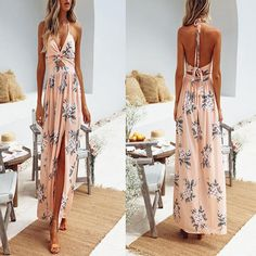 CHLZYD Womens Beach Holiday Boho Floral Print V-Neck Sleeveless Short Pants Jumpsuit