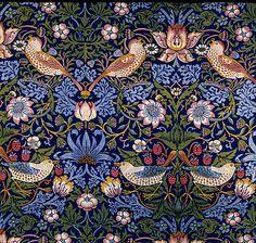 Strawberry Thief. William Morris wallpaper design,