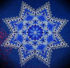 Northern Star. Greenland Beaded Glass Table Mat