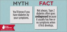 Time for Fact Check Friday! Each week we debunk a common myth about diabetes. Please share this eye-opening fact with everyone you know!