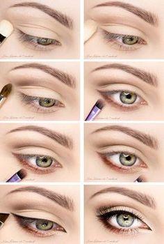 eye makeup for brown eyes ; eye makeup for blue eyes ; eye makeup tips ; eye makeup for green eyes Natural Eye Makeup, Eye Makeup Tips, Makeup Hacks, Skin Makeup, Makeup Inspo, Makeup Inspiration, Beauty Makeup, Makeup Ideas, Makeup For Big Eyes