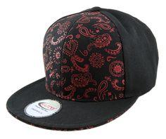 Bandana Print Adjustable Snapback Caps made from 100% Acrylic Wool. Snapbacks are in visor colors.