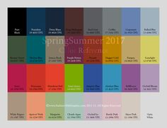 SS 17 Colour Overview