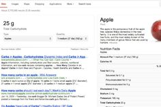 Google Adds Nutritional Information to Search - Foodista.com