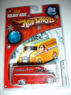 Hot Wheels 2006 Holiday Rods Limited Edition Red Dairy Delivery 1 of 5