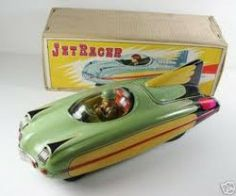 Look for old tin toys hopefully in their original box