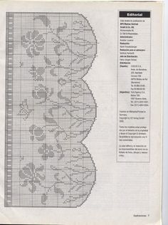 ru / Фото - Sonia Punto de red 60 2005 - Natalia-L häkeln vorlagen muster Irish Crochet Patterns, Filet Crochet Charts, Crochet Borders, Crochet Cross, Tunisian Crochet, Crochet Trim, Crochet Stitches, Crochet Curtains, Crochet Doilies