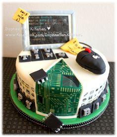 Computer science theme birthday cake <---very nice. Computer Cake, Computer Theme, Computer Science, Computer Technology, Computer Programming, Beautiful Cakes, Amazing Cakes, Engineering Cake, Computer Engineering