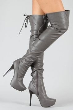 Sheryl-06 Slouchy Pointy Toe Thigh High Boot $37.40