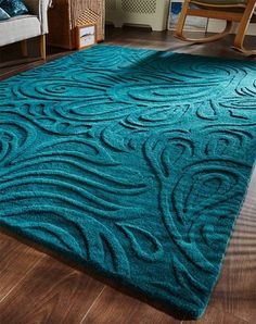 Relief Paisley Teal Rug for sale online with free UK delivery. There is no better place to source a fine and wide selection of handmade wool rugs than Capital Rugs' website. Teal Color Schemes, Living Room Color Schemes, Living Room Colors, Teal Living Rooms, Rugs In Living Room, Living Room Decor, Teal Rug, Teal Area Rug, Teal Pillows