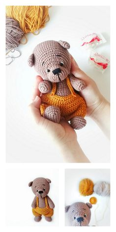Amigurumi Sam The Little Teddy Bear Free Pattern – Free Amigurumi Patterns Crochet Amigurumi Free Patterns, Crochet Animal Patterns, Crochet Doll Pattern, Doll Patterns, Knitted Teddy Bear, Crochet Bunny, Teddy Bears, Teddy Bear Patterns Free, Crochet Teddy Bear Pattern Free