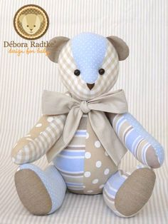 Another very pretty fabric teddy!