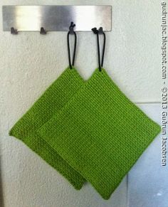 by GJ: Hæklede grydelapper - Crochet potholders