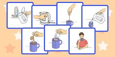 7 Step Sequencing Cards Washing Clothes تعلم Pinterest