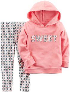 Carter's 2 Piece Sweet Sweater Set - Pink - 4T. 2 pc L/S Set.