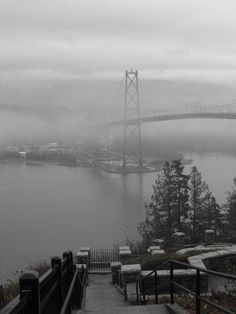Overlooking the Stanley Park Bridge from North Vancouver, BC, Canada #GILoveBC
