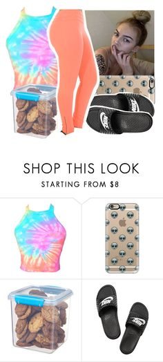 """""""Goodnight-4:45am-"""" by aribearie ❤ liked on Polyvore featuring Casetify, Sistema and NIKE"""