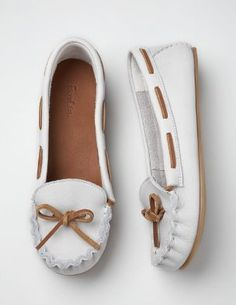 I want a pair of these! So comfy! Casual Moccasins, Boden $88