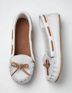 white moccasins
