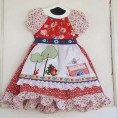 Little Red Riding Hood Applique Dress by reimaginedtreasures