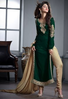 Green Designer Velvet Palazzo..@ fashionsbyindia.com #designs #indian #fashion #womens #style #cloths #fashion #stylish #casual #fashionsbyindia #punjabi #suits
