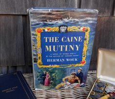 1951 The Caine Mutiny book, hard to find 1st Edition, 2nd Printing, dust jacket, World War II Pulitzer prize winning fiction by Herman Wouk by ClassicCrow on Etsy
