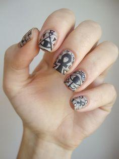 Coco ▲ ▼ ▲ ▲ ▼ ▲ 's nails: Nail art Egyptian