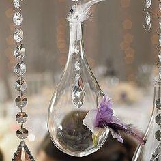 Blown Glass Tear-Drop Vases – Large