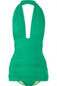 Halterneck swimsuit by Norma Kamali
