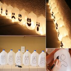 Would You Try These Milk Jug Ghosts for the Halloween? - http://www.amazinginteriordesign.com/would-you-try-these-milk-jug-ghosts-for-the-halloween/