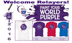 RELAY FOR LIFE - Paint Your World Purple - place mat 8 X 14 - Debbie Buchanan