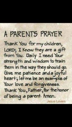 Daily Parents Prayer