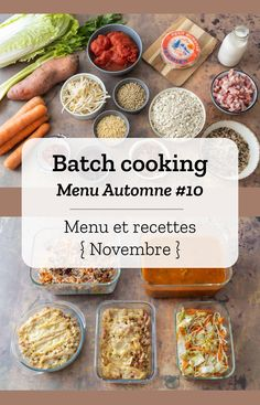Batch cooking Fall # 10 - Batch cooking (menu and recipes) for the week from 25 to 29 November 2019 - Fun Easy Recipes, Healthy Dinner Recipes, Easy Meals, Picky Toddler Meals, Budget Clean Eating, Chicken Lunch Recipes, Meals Kids Love, Easy Vegetarian Lunch, Batch Cooking