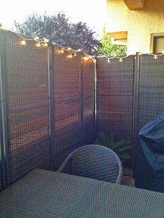 A Private Outdoor Dining Area Is Created With Our 3 Panel Wicker Parions Privacy