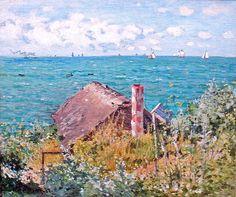 W 094 Claude Monet - Cabane à Sainte Adresse [1867] Geneva, Musée d'Art et d'Histoire - artsdot