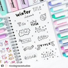 11 Simple Planner Doodles for Your Bullet Journal with step by step process Bullet Journal Inspo, Bullet Journal Planner, Bullet Journal Ideas Pages, Bullet Journals, Journal Fonts, Journal Layout, My Journal, Lettering Tutorial, Tittle Ideas