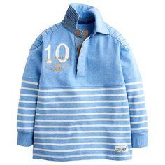 Buy Little Joule Boys' Stripe Rugby Top, Blue Online at johnlewis.com