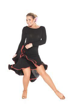 """Novella Red"" Latin Dance Dress YES!"