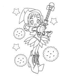 Magical Doremi Cartoon Coloring Sketch,http://colorasketch.com/magical-doremi-cartoon-coloring-sketch-free-download/
