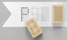 Dot matrix or LCD rubber stamps. Print a grid, fill them in!