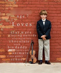 Clever!  And love the violin against the brick wall idea.