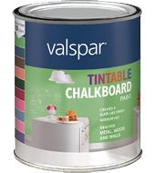 Tintable Chalkboard Paint Colors Avail.  Pomegranate Red Cl114 Berry Mulch Cl217 Tropical Bloom Cl228 First Kiss Cl220 Leather Chair Cl64 Grass Stain Cl243 Faded Denim C13 La Fonda Midnight 4004 - 4C Mountain Top Cl128 Aged Pine 6011 -