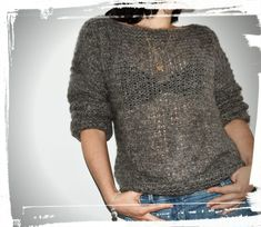 Even more cuddly sweaters 😍😍😍 - Mon blabla de fille : Laine Drops, Wool Vest, Fitness Gifts, Drops Design, Pulls, Knit Crochet, Men Sweater, Pullover, Lace