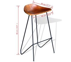 DUNDRA | S72 65 | Barstol med polstret sæde og ryglæn | Barstol