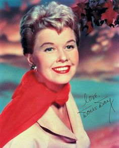 Doris Day ~ Autographed photo (Wonder if that is really her signature, or that of a studio employee!)
