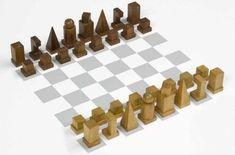 Josef Hartwig Chess set (model I) 1922 Harvard Art Museum, Busch-Reisinger Museum Photo by Imaging Department