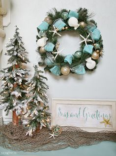 If the sand and sea speak to your soul then come see how to create a Coastal Christmasland in your home this holiday. Coastal Christmas decorating ideas.